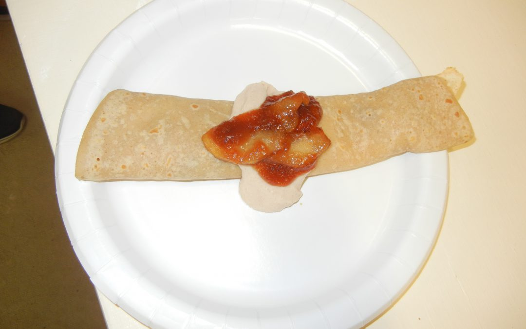 Apple and Cream Cheese Crepe