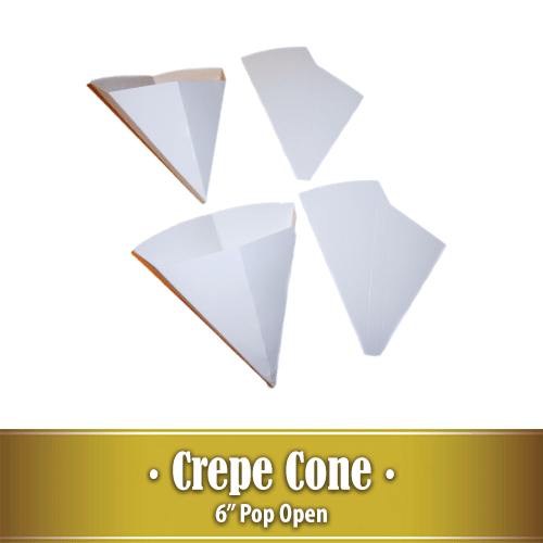 6″ Pop Open Crepe Cone