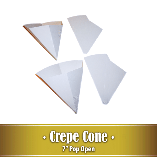 7″ Pop Open Crepe Cone