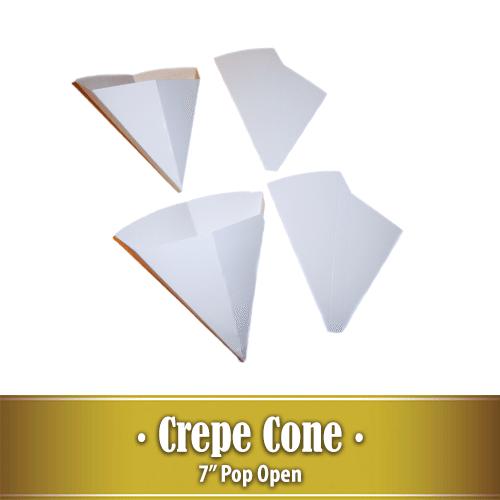7″ Pop Open Crepe Cone
