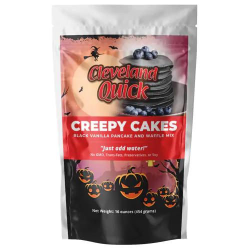 Creepy Cakes Black Vanilla Pancake and Waffle Mix